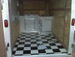 Shows Sinks and Checkered Floor